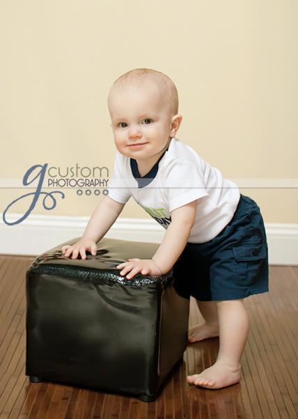 Little man T at 10 months