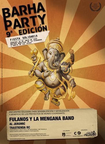 Cartel Barha Party Madrid 9ª Edición - Modelo B