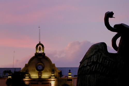 Aguila y palacio municipal Zapopan