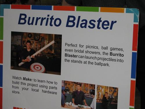 BUrrito blaster sign