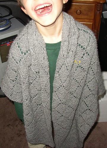 alpaca shawl happy kid