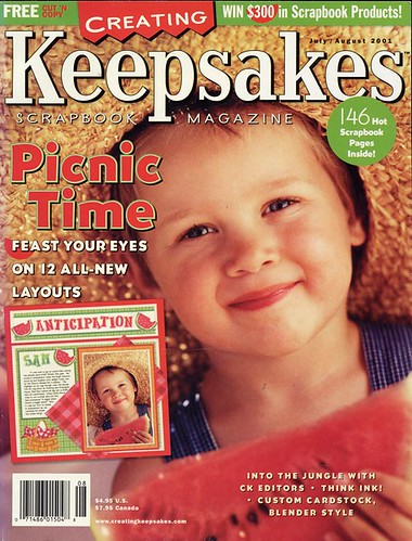 The July/August 2001 issue of Creating Keepsakes magazine
