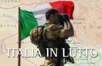 Italia in lutto