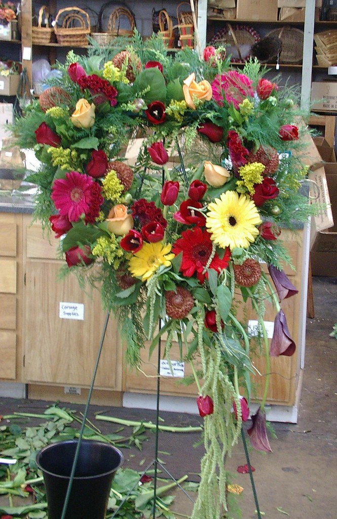 heart wreath funeral