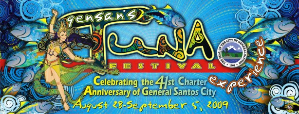 The GenSan Tuna Festival Xperience 2009 Poster