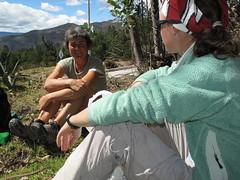 Picnic avec Nicole, partie a pied d'Ushuaia il y a 4 ans