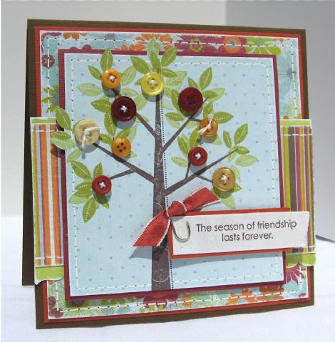 Tessa Wise's Button Tree Card