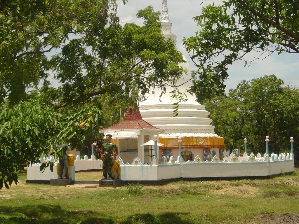 Somapura temple with new sentries