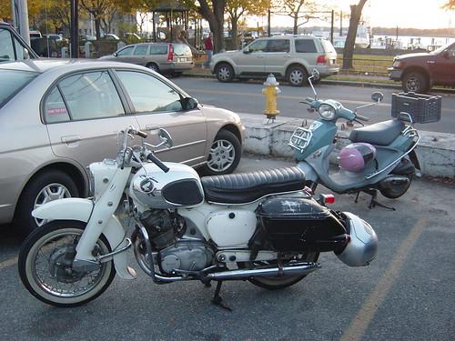Honda Dream & Buddy Scooter at Aidan's in Bristol, RI