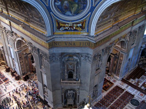 View from the dome of St. Peters Basilica.