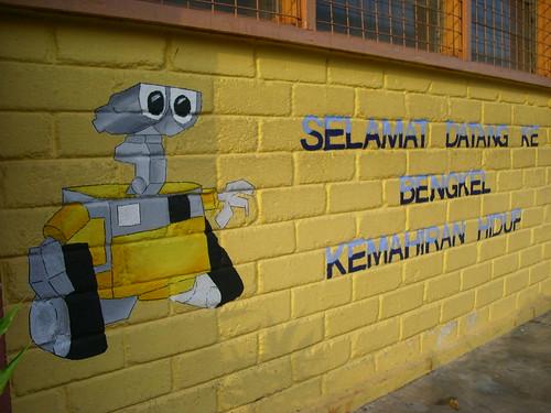 Ini la mural yang aku wat, cun x?