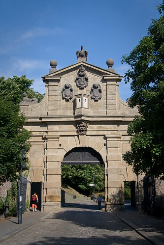Old castle gate by you.