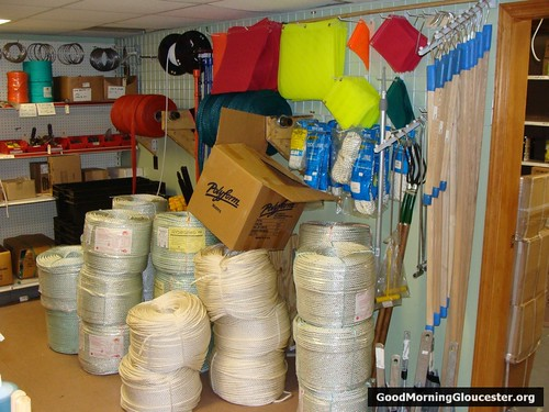 Lobster pot rope, bait bags, gaffes, flags and more