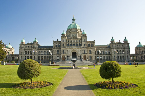 British Columbias Legislative Building in Victoria