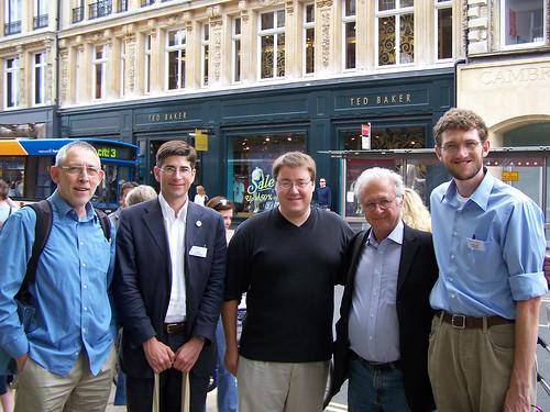 Brian Rosen, John van Wyhe, me, David Kohn, & Alistair Sponsel