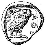 athenian tetradrachma showing Athen's owl