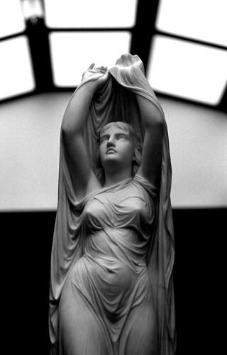 """Undine, Rising from the Fountain"" — Chauncey Bradley Ives. (Kodak Tri-X. Nikon F100. Epson V500.)"