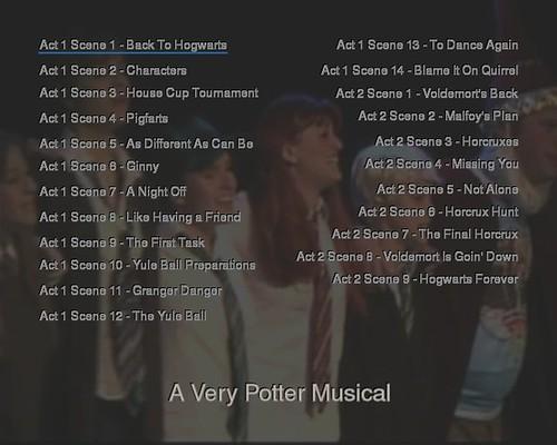 A Very Potter Musical dvd menu