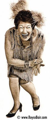 Slapstick, Laughing Woman par IronRodArt - Royce Bair