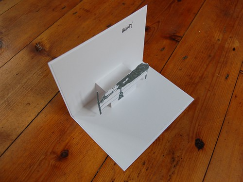 heavy pop up card - from side