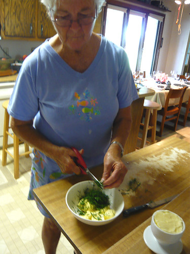 Patty makes the Dill Butter