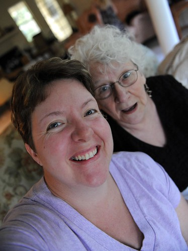 270/365: sneaking a picture with grandma Bristow
