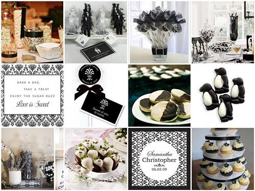 3994271555 44c8e7b887 Baú de ideias: Decoração de casamento preto e branco