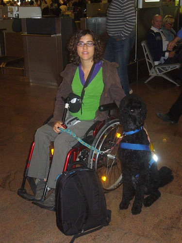 Yankee en Leen klaar om te vertrekken in de luchthaven