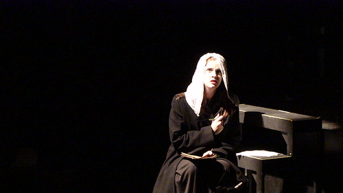 Maeve Hoglund as the bride fleeing to America in the Sep 2009 performance of Darkling in Philadelphia.