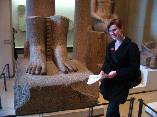 Me with some Feet in the Louvre