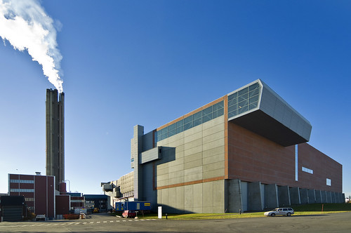 Uppsala combined heat and power plant. Waste incineration plant.