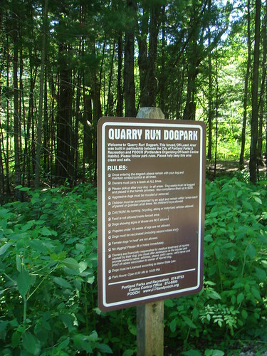 Quarry Run Dog Park---Lots of Rules...and as we found...not everyone follows them....