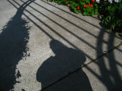 Self-portrat in shadow