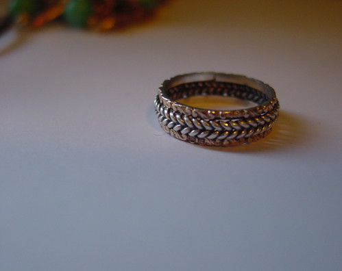 Sterling Silver and Rose Gold Witch Ring