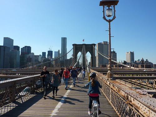 Brooklyn Bridge by bike