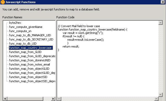 function list