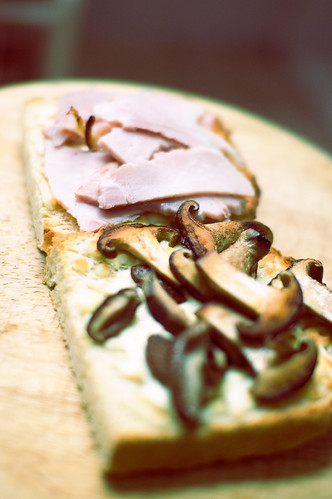 Ham/Mushroom/Cheese Sammich