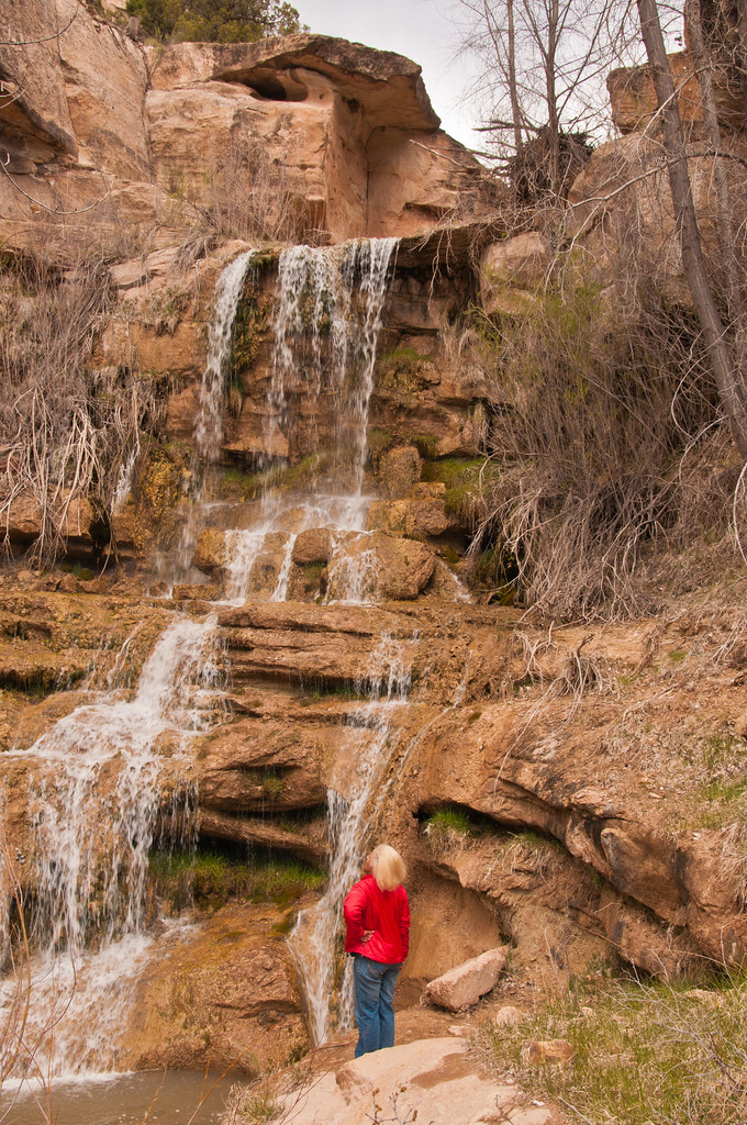 Chris at the waterfall in Trail Canyon