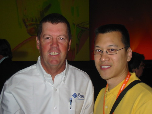 Chairman and Co-Founder, Sun Microsystems. (person on the left)