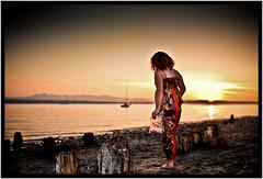 Sunset Hippy Chick