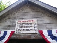 Cedar Point - Antique Cars Rates of Toll Sign