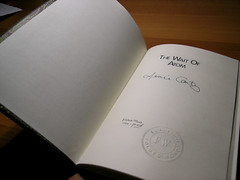 picture of chapbook open to the signature page