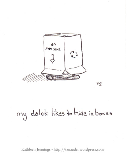 My Dalek likes to hide in boxes