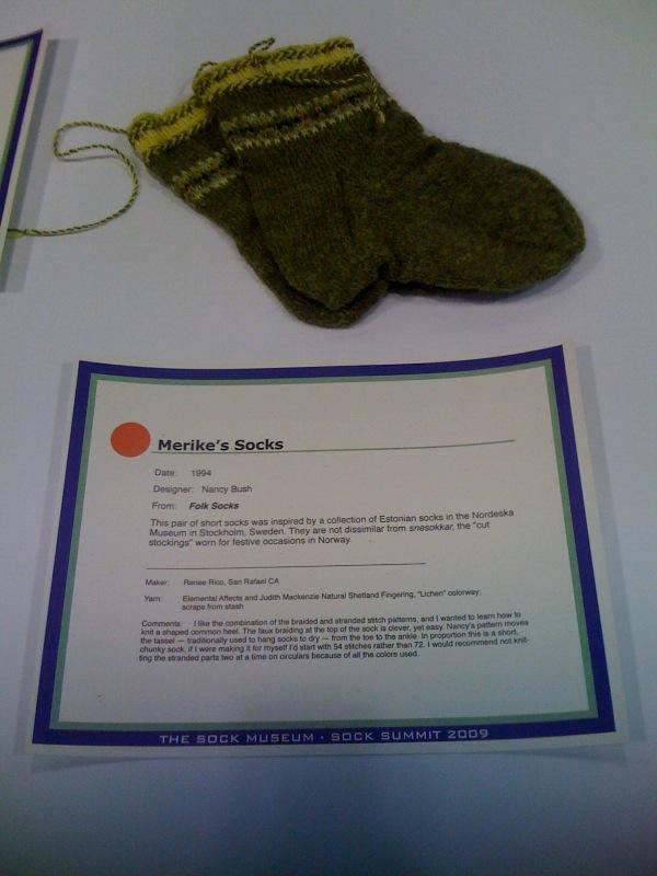 Merike's Socks at Sock Summit