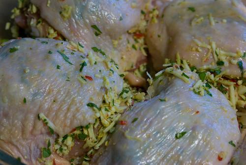 panir-stuffed chicken