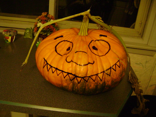 Sharpie Pumpkin Face