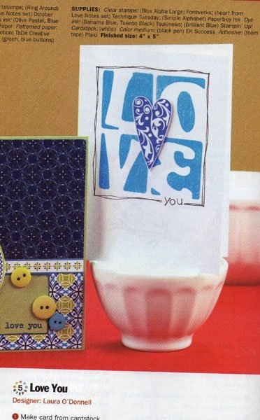 Love You card by Laura ODonnell