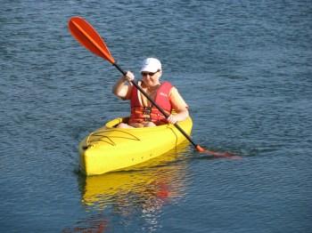 Mom Kayaking