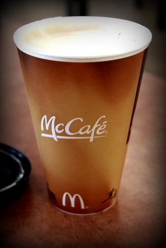 Latte at McCafe, McDonalds, Valencia by you.