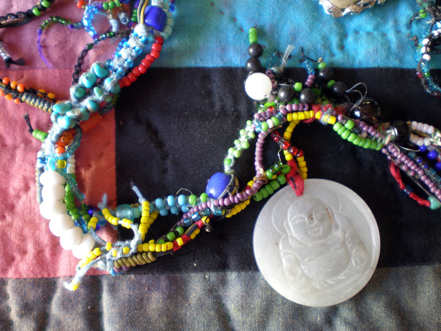 monk necklace close up